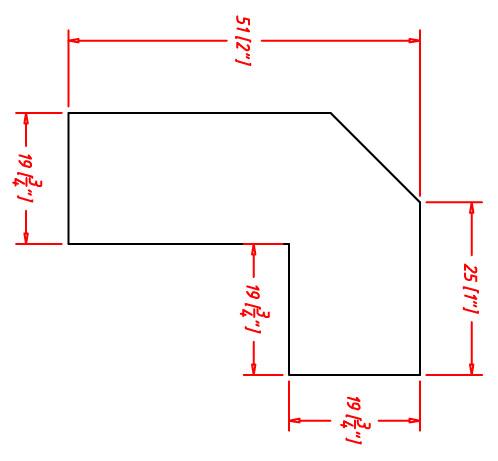 Angle Light Rail Moulding
