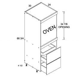 Tall One Oven with Two Drawer and One Inner Drawer