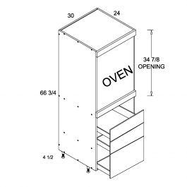 Tall One Oven with Three Drawer Utility