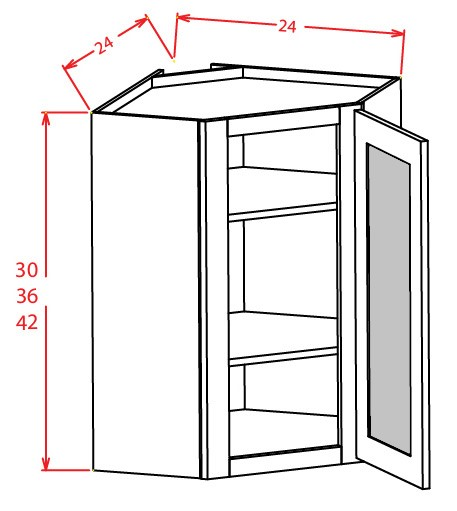 OPEN FRAME DIAGONAL WALL CABINETS