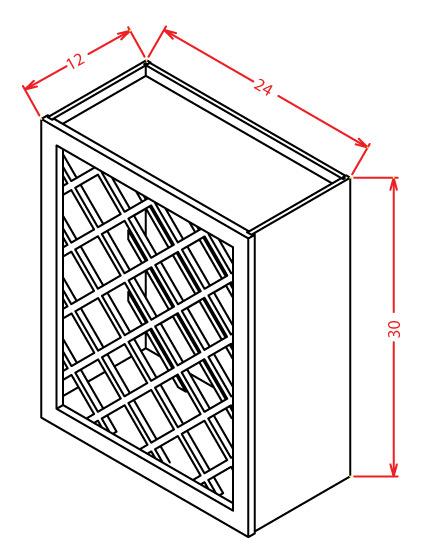 Wall Wine Rack Cabinet-C24
