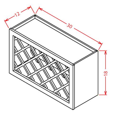 Wall Wine Rack Cabinet-C30